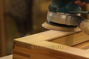 Подшлифовка рамы ручным инструментом